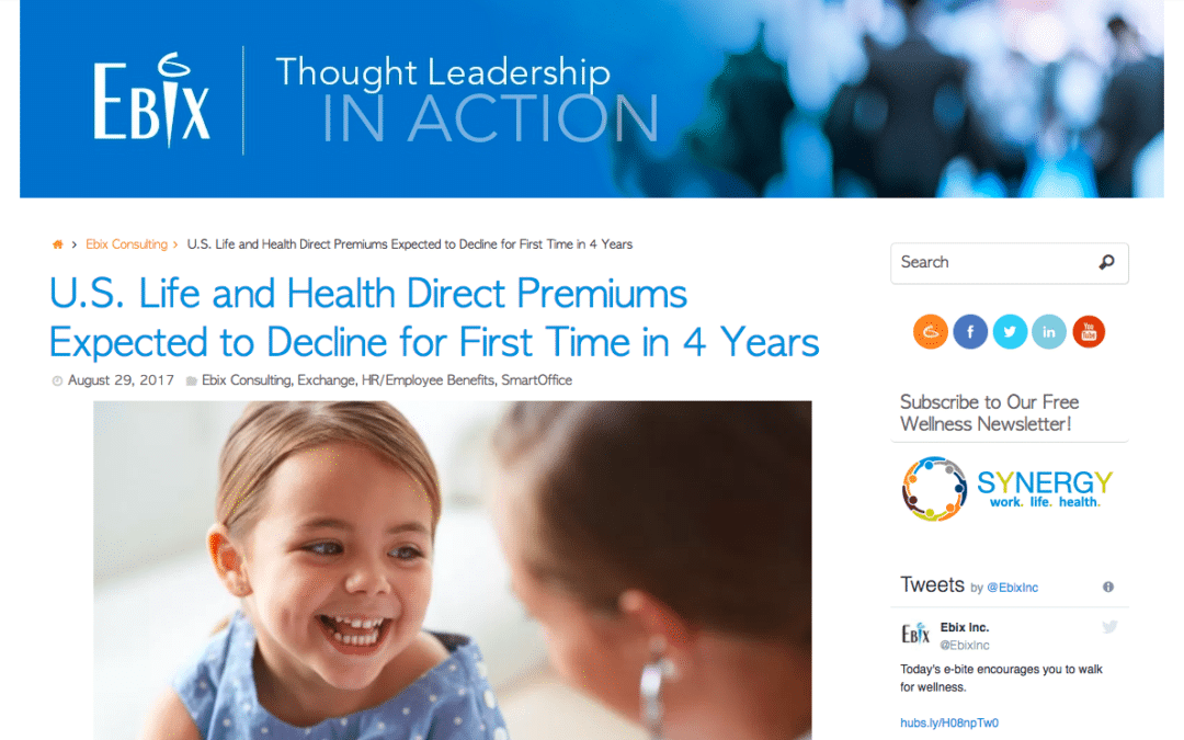 U.S. Life and Health Premiums Expected to Decline